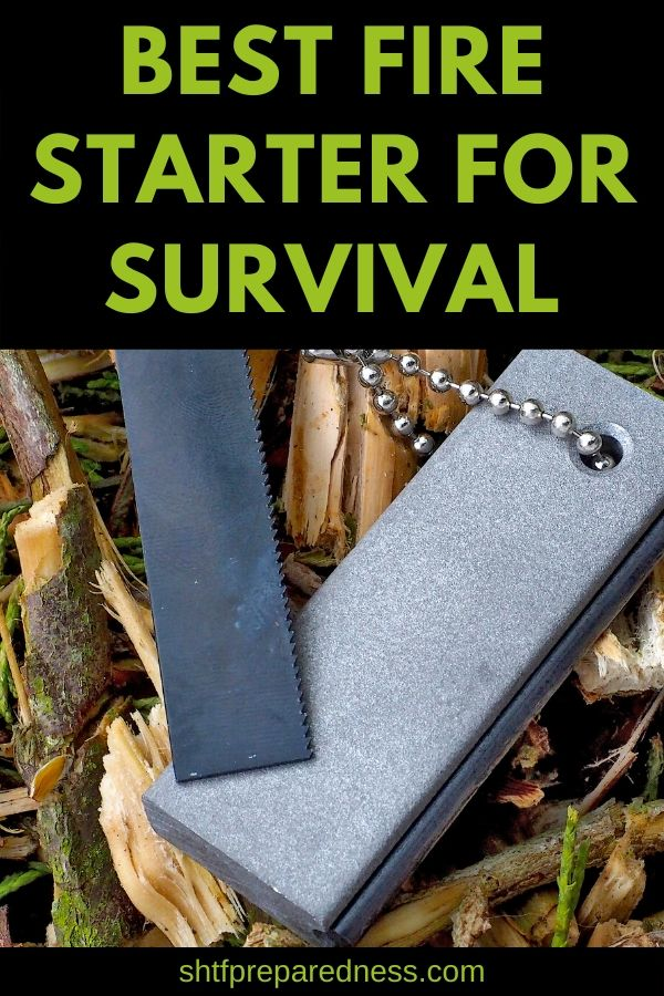 Starting a fire is an important skill to learn. Check out this guide to the best fire starter for survival. #firestarter #survival #preparedness #camping #shtf