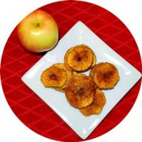 Cinnamon apple chips dried fruit snack recipe