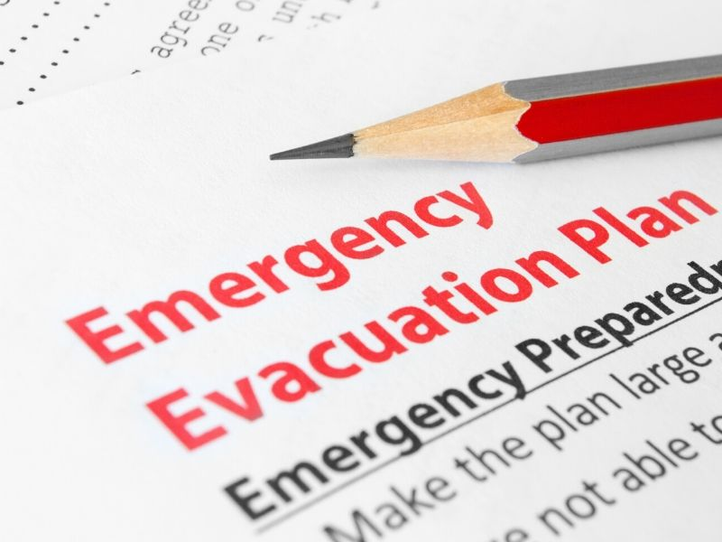 Emergency preparedness evacuation plan for kids