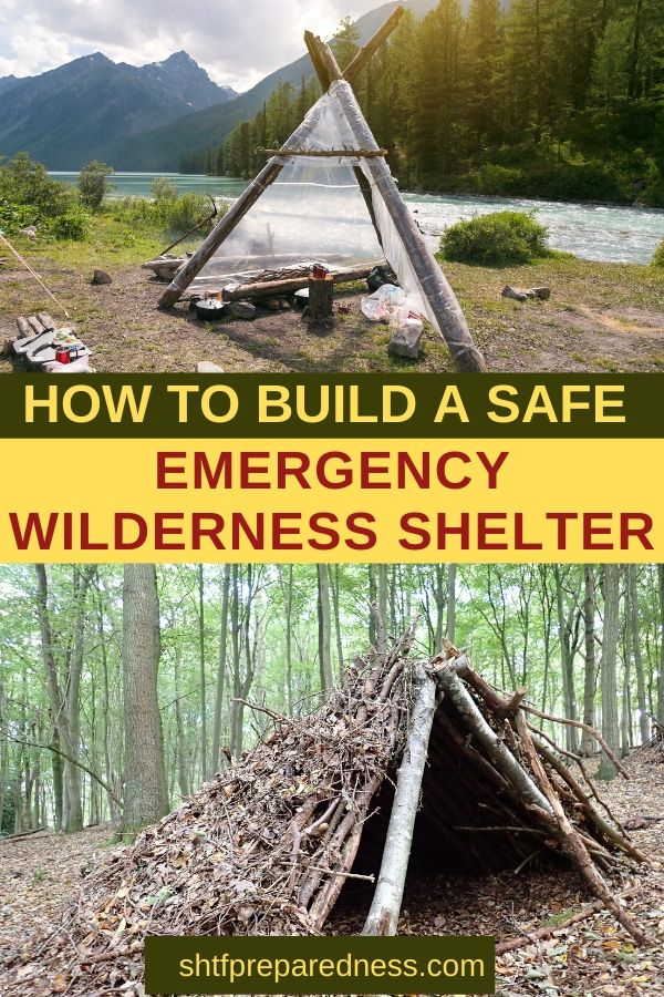 How to build a safe emergency wilderness shelter #preparedness #shelter #emergencyshelter #shtf #survival