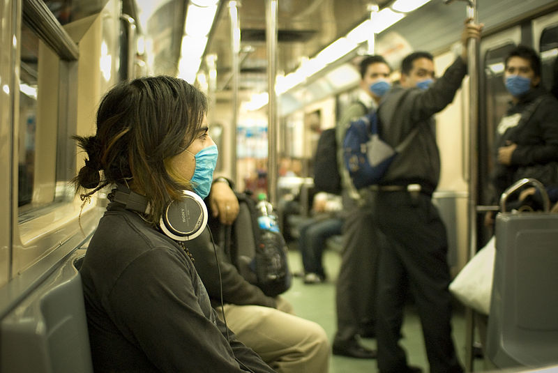 Masked Train Passengers
