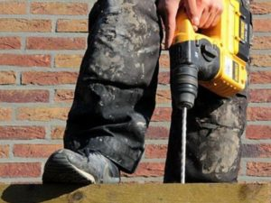 Man drilling with a power drill