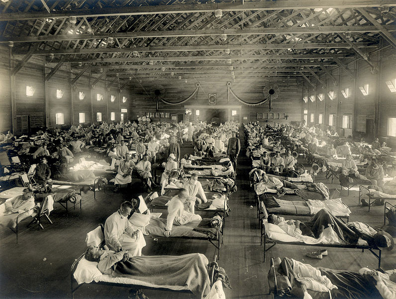 Emergency hospital during the Spanish Flu epidemic, Camp Funston, Kansas