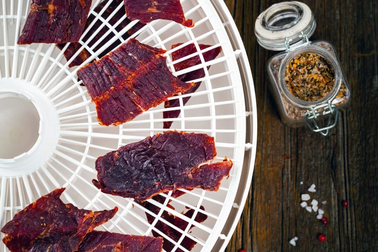 making beef jerky in a food dehydrator