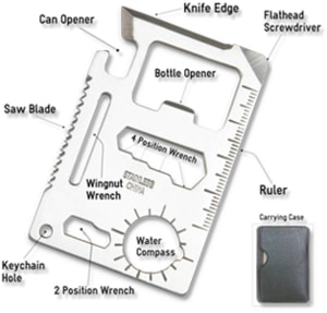 survival card edc multi-tool