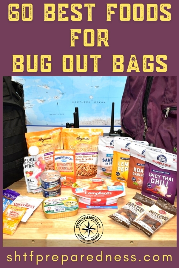 The best food for your bug out bag have a long shelf life, high caloric density, are lightweight, and taste great. Here are our top BOB food picks, by category.
