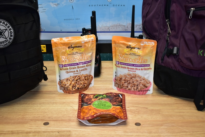 carb-rich bug out bag foods