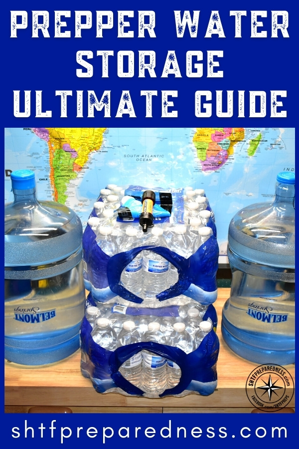 Our Prepper Water Storage Ultimate Guide separates fact from fiction so you can properly store water.