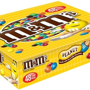 M&M'S Peanut Chocolate Candy Singles 1.74 Ounce (Pack of 48)
