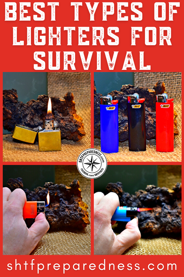 When choosing between types of lighters, a survivalist should know how the differences in fuel and flame type impact reliability and durability.