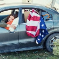 woman forced to live in her car