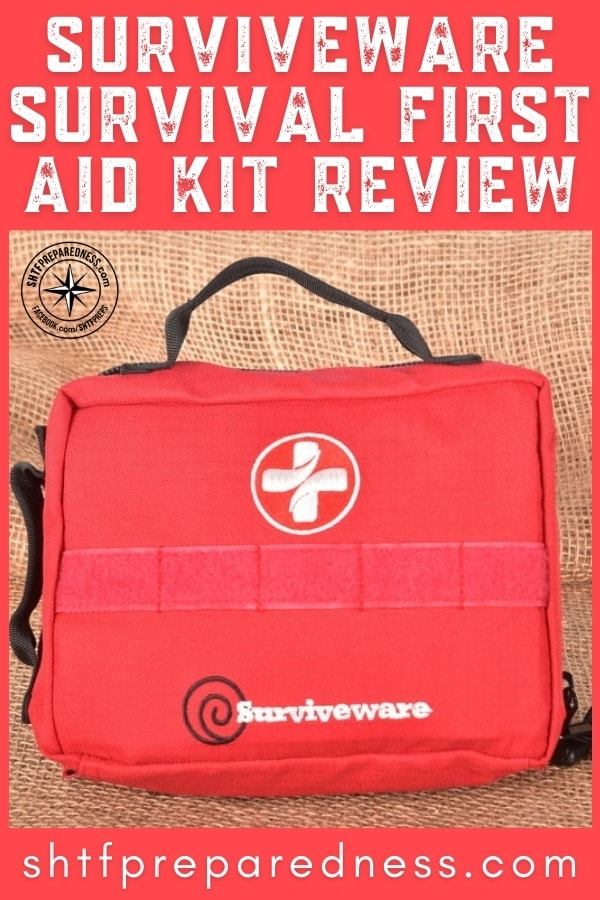 Accidents happen! Small accidents happen… A lot! That's why we carry medical kits. The Surviveware Survival First Aid Kit is one of the best.