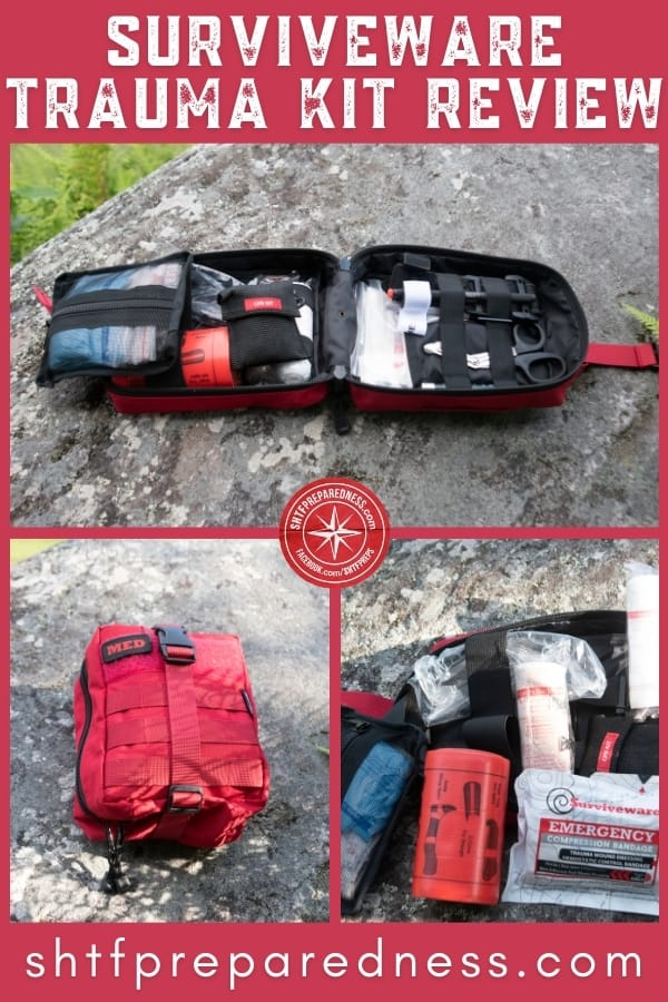 This isn't your momma's boo-boo kit. Managing traumatic injuries takes a specific set of tools. The Surviveware Trauma First Aid Kit is one of the best!