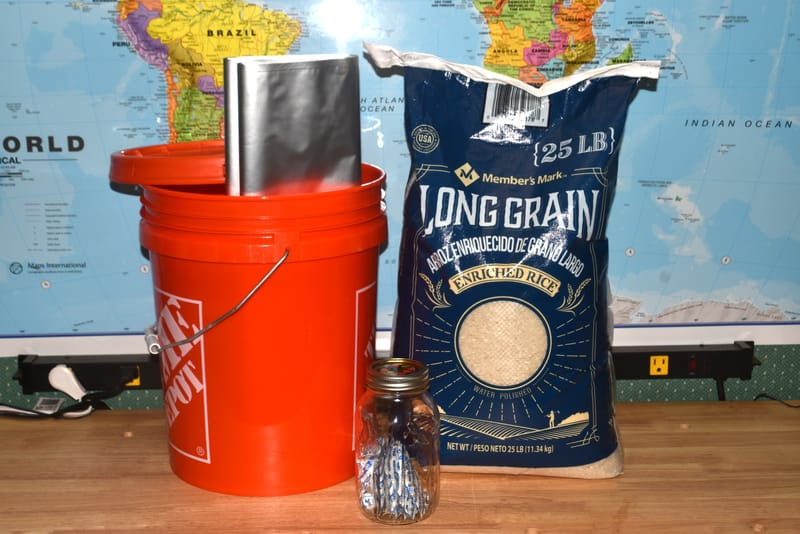 using mylar and buckets for long-term rice storage